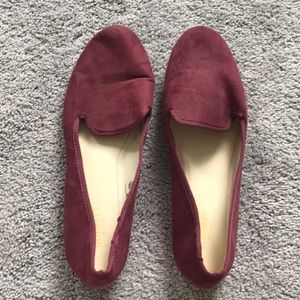 Purple slip on flats. Worn once! Great condition!